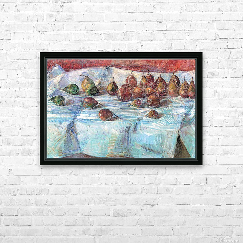 Winter Sickle Pears  by Hassam HD Sublimation Metal print with Decorating Float Frame (BOX)
