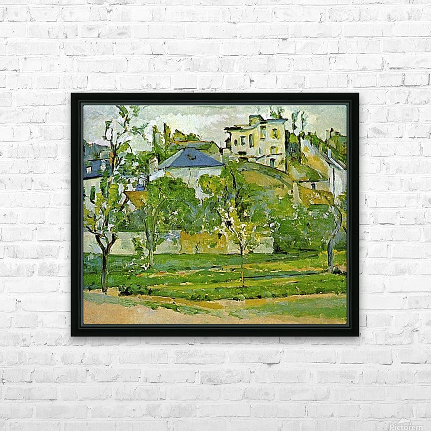Fruit garden in Pontoise by Cezanne HD Sublimation Metal print with Decorating Float Frame (BOX)