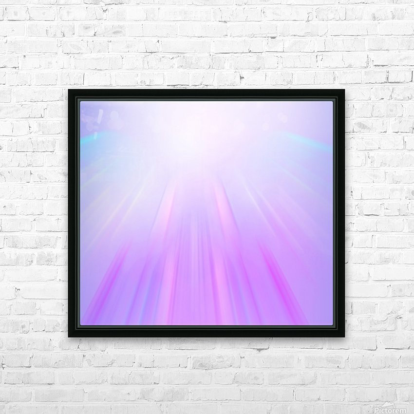 Purple Angel HD Sublimation Metal print with Decorating Float Frame (BOX)