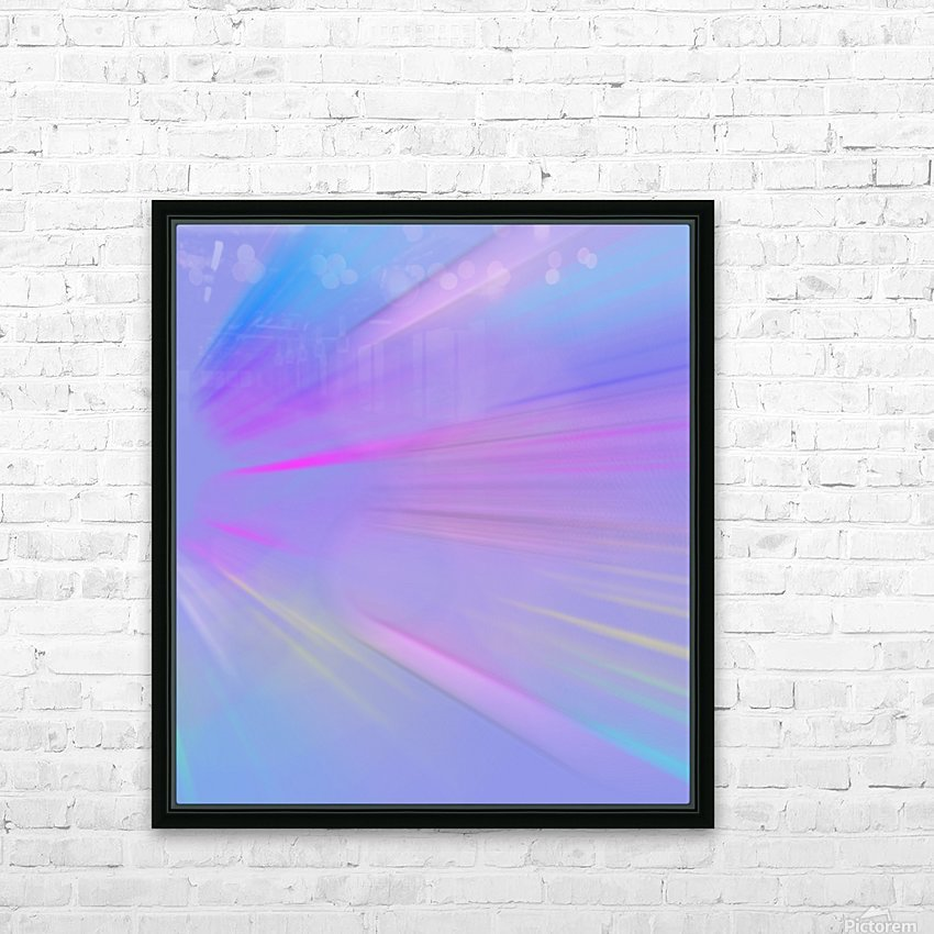 Purple Comet HD Sublimation Metal print with Decorating Float Frame (BOX)