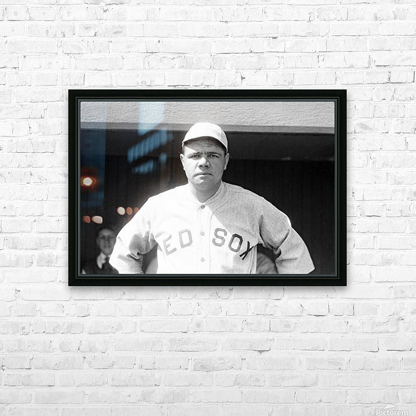 1919 Babe Ruth  HD Sublimation Metal print with Decorating Float Frame (BOX)