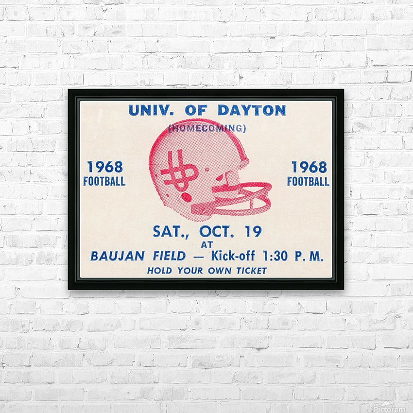 Vintage Dayton Flyers Football Ticket Poster HD Sublimation Metal print with Decorating Float Frame (BOX)