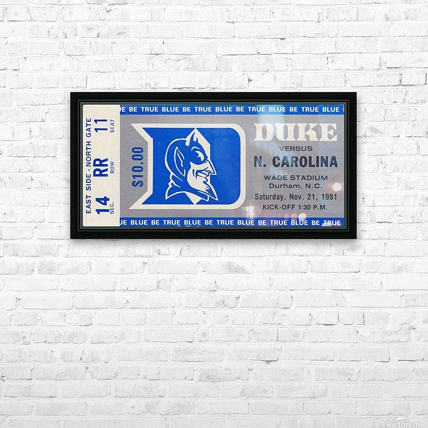 1981 Duke vs. North Carolina HD Sublimation Metal print with Decorating Float Frame (BOX)
