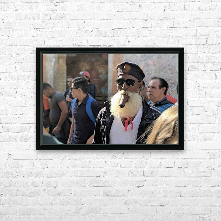 Cuban smoking cigar HD Sublimation Metal print with Decorating Float Frame (BOX)