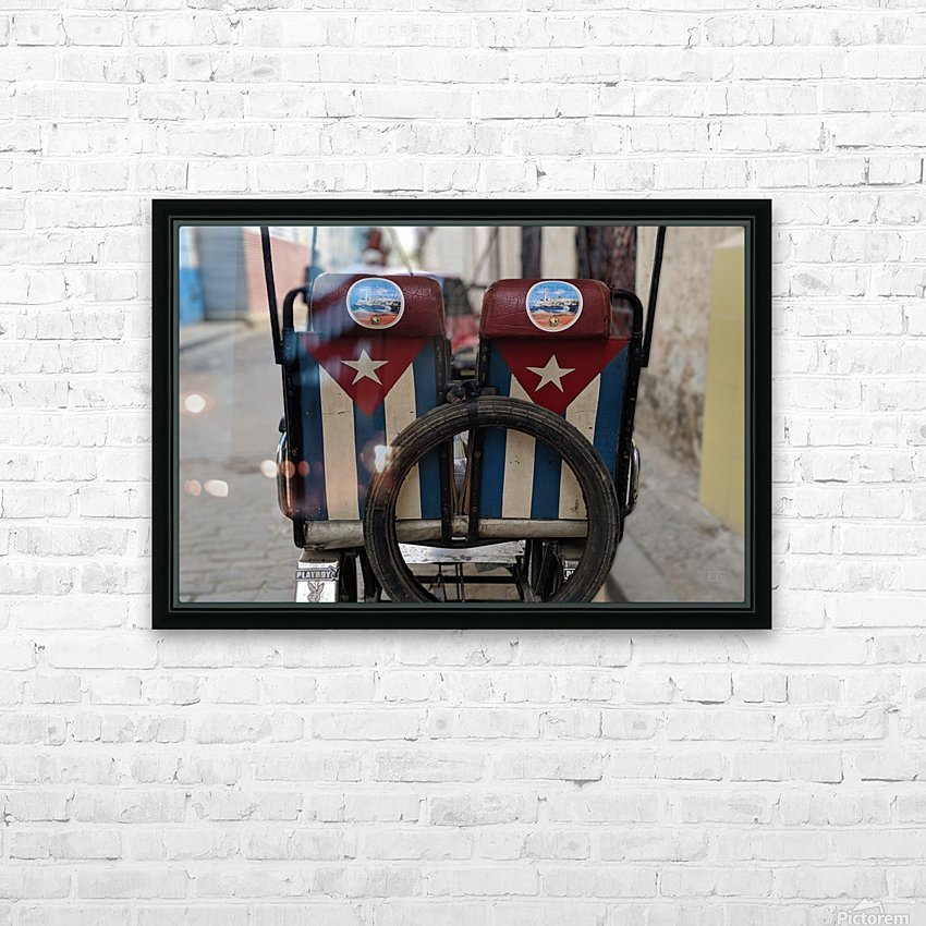 Cuban Bicycle Taxi HD Sublimation Metal print with Decorating Float Frame (BOX)