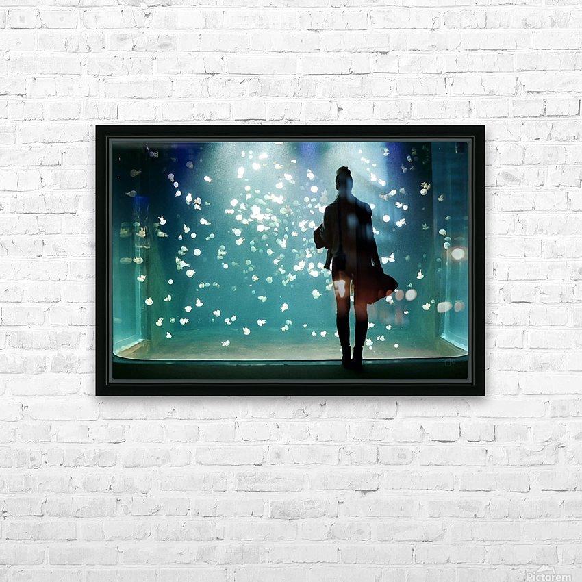 Aquarium HD Sublimation Metal print with Decorating Float Frame (BOX)