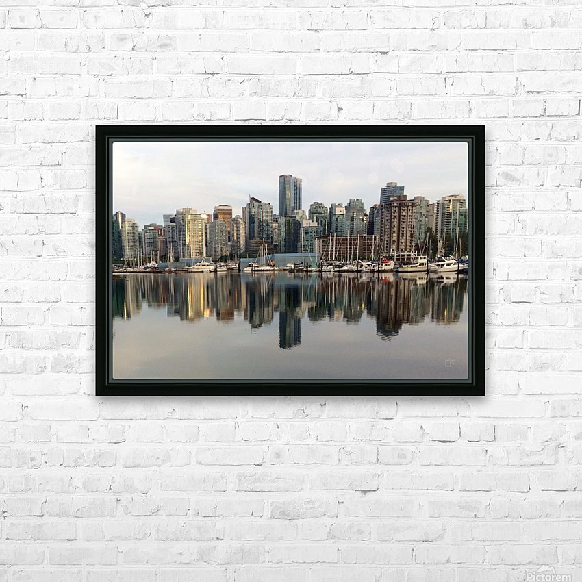 Downtown Reflection HD Sublimation Metal print with Decorating Float Frame (BOX)