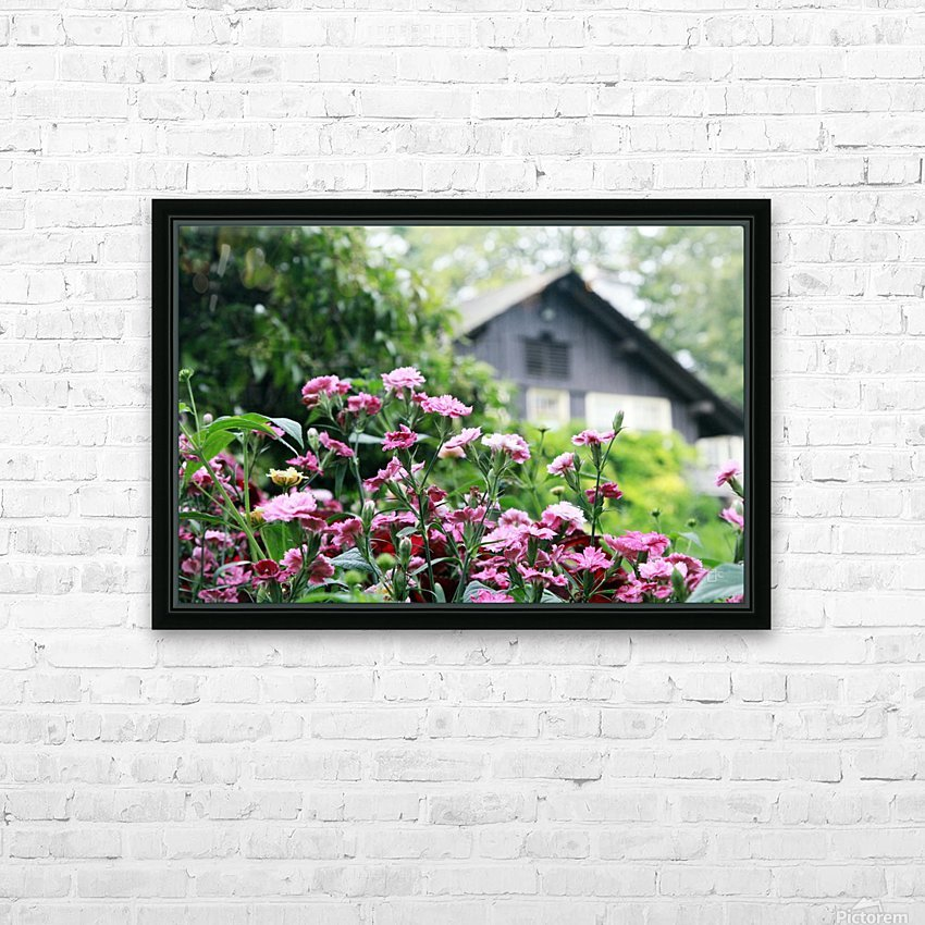 Cottage HD Sublimation Metal print with Decorating Float Frame (BOX)
