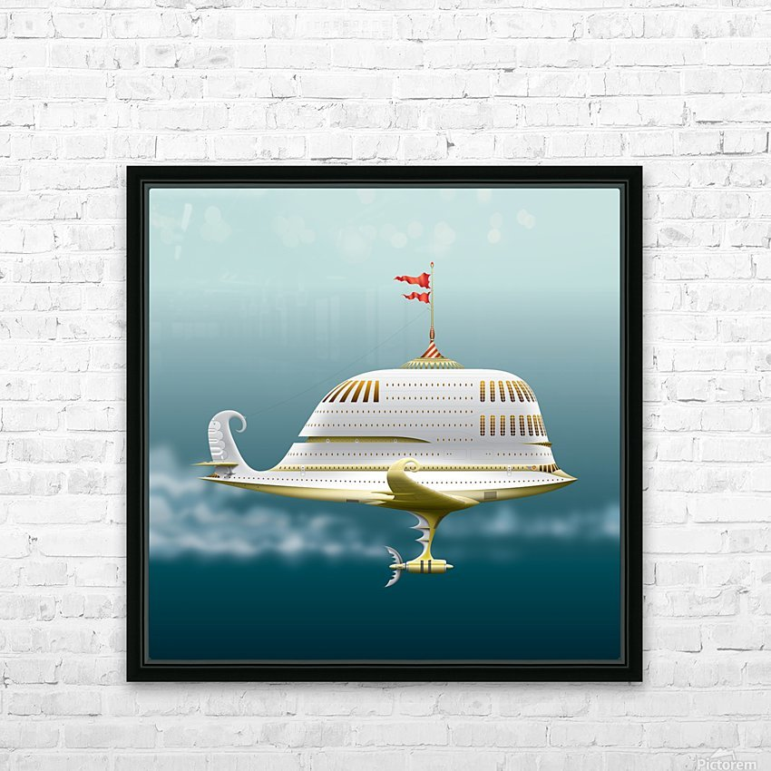 Imbarcazione Volante Dommo HD Sublimation Metal print with Decorating Float Frame (BOX)