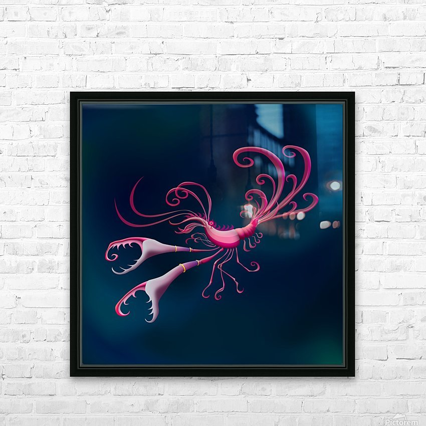 Aragosta Rosa HD Sublimation Metal print with Decorating Float Frame (BOX)