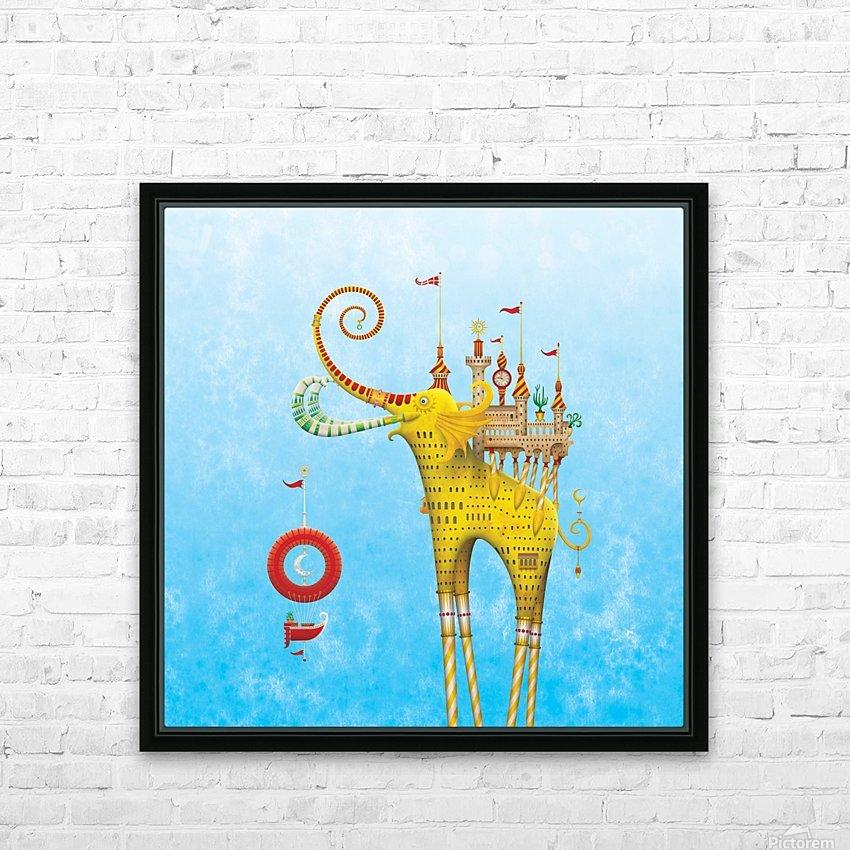 Castellini Elephantini Dorado HD Sublimation Metal print with Decorating Float Frame (BOX)