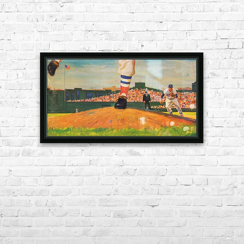The Mound_Vintage Red Sox Baseball Art_Row One Brand HD Sublimation Metal print with Decorating Float Frame (BOX)