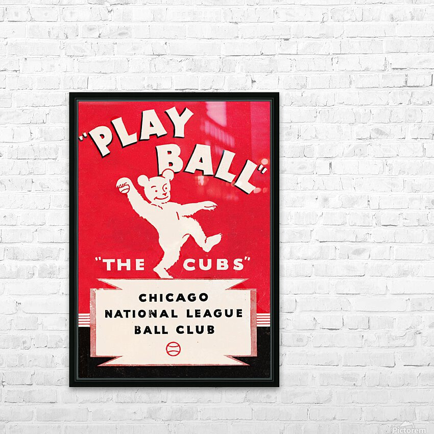 1934 Chicago Cubs  HD Sublimation Metal print with Decorating Float Frame (BOX)