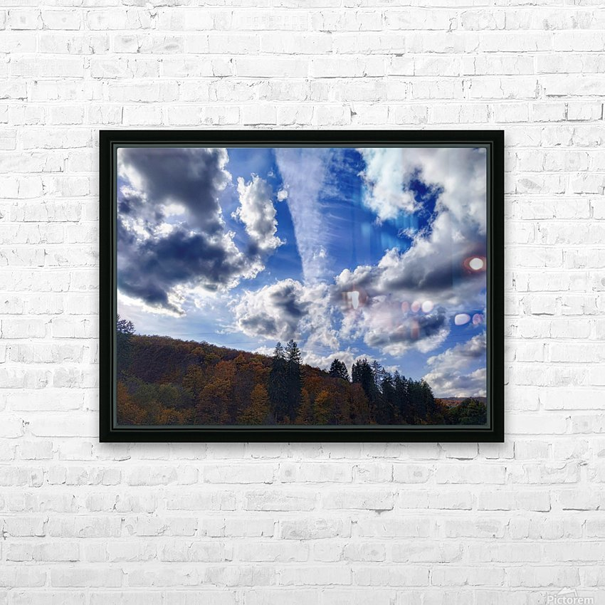 Cloudscape HD Sublimation Metal print with Decorating Float Frame (BOX)