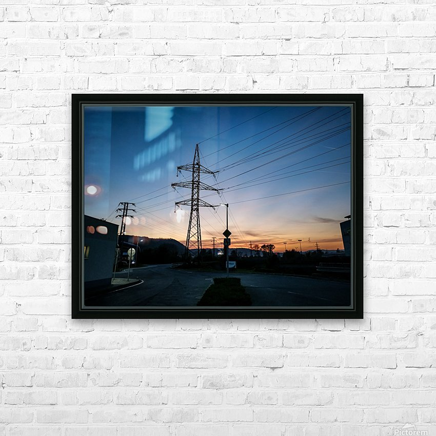 Industrial sunset HD Sublimation Metal print with Decorating Float Frame (BOX)
