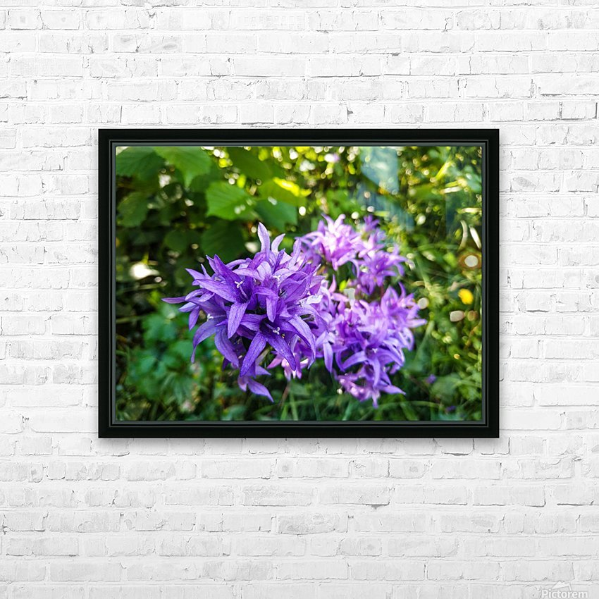 Violet flowers HD Sublimation Metal print with Decorating Float Frame (BOX)