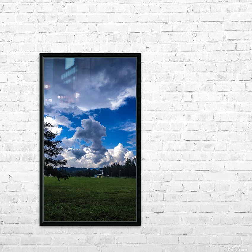 Stormy clouds HD Sublimation Metal print with Decorating Float Frame (BOX)