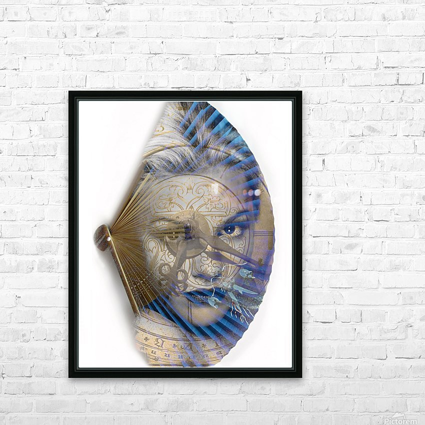 Face with clock and fan HD Sublimation Metal print with Decorating Float Frame (BOX)