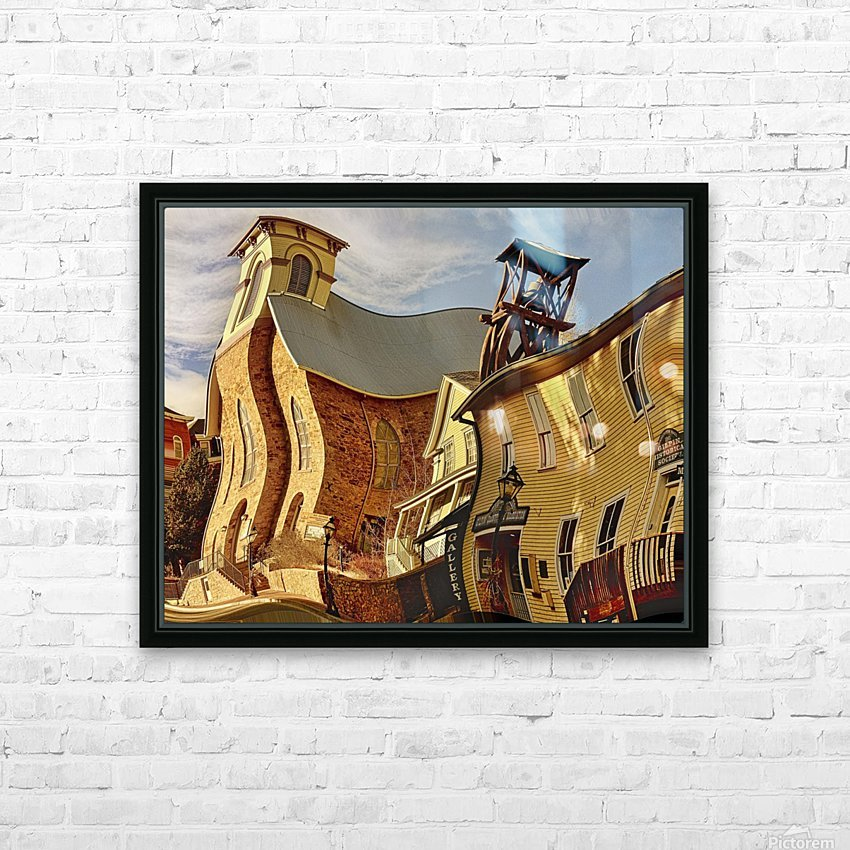 Fun Town  HD Sublimation Metal print with Decorating Float Frame (BOX)
