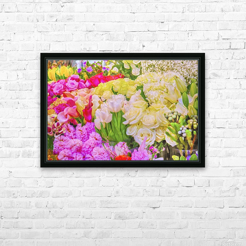 Abstract colorful flowers HD Sublimation Metal print with Decorating Float Frame (BOX)