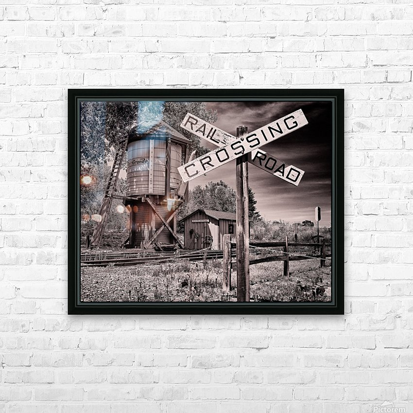 The train station HD Sublimation Metal print with Decorating Float Frame (BOX)