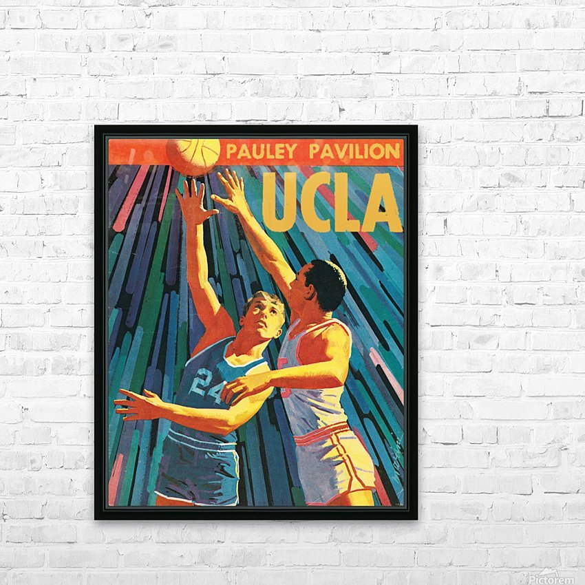 Vintage UCLA Bruins Basketball Poster HD Sublimation Metal print with Decorating Float Frame (BOX)