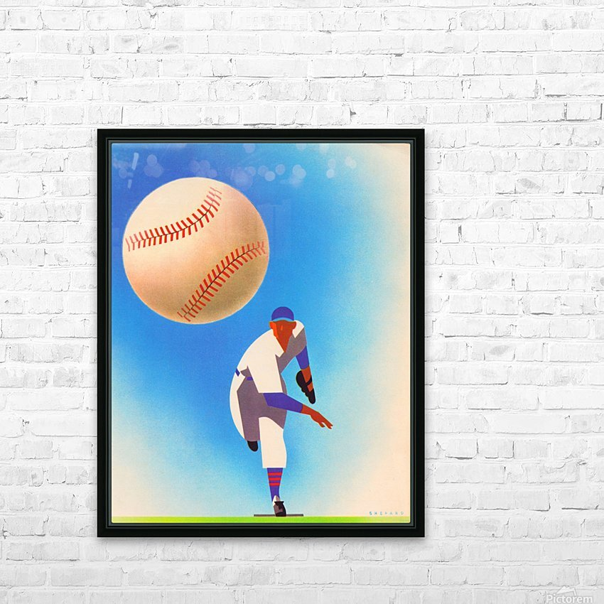 Baseball Pitcher Art HD Sublimation Metal print with Decorating Float Frame (BOX)
