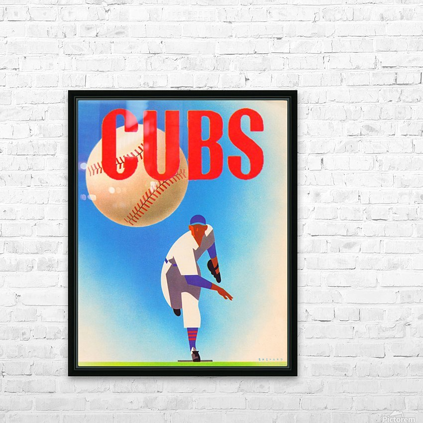 Cubs HD Sublimation Metal print with Decorating Float Frame (BOX)