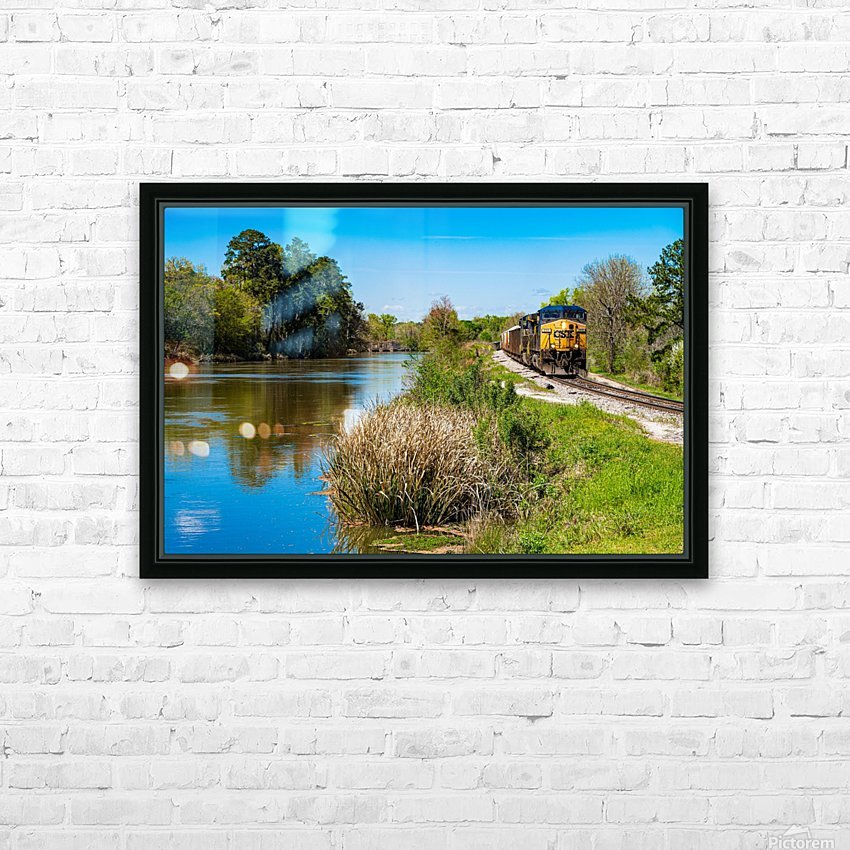CSX Train along the Augusta Canal GA 02909 HD Sublimation Metal print with Decorating Float Frame (BOX)