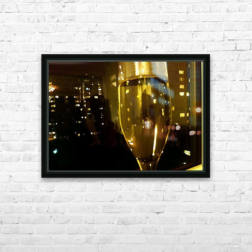 Champagne 4 HD Sublimation Metal print with Decorating Float Frame (BOX)