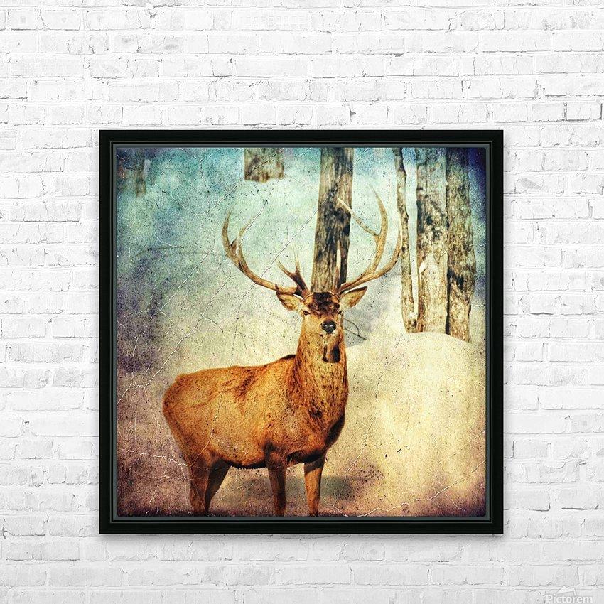 Dans les bois HD Sublimation Metal print with Decorating Float Frame (BOX)
