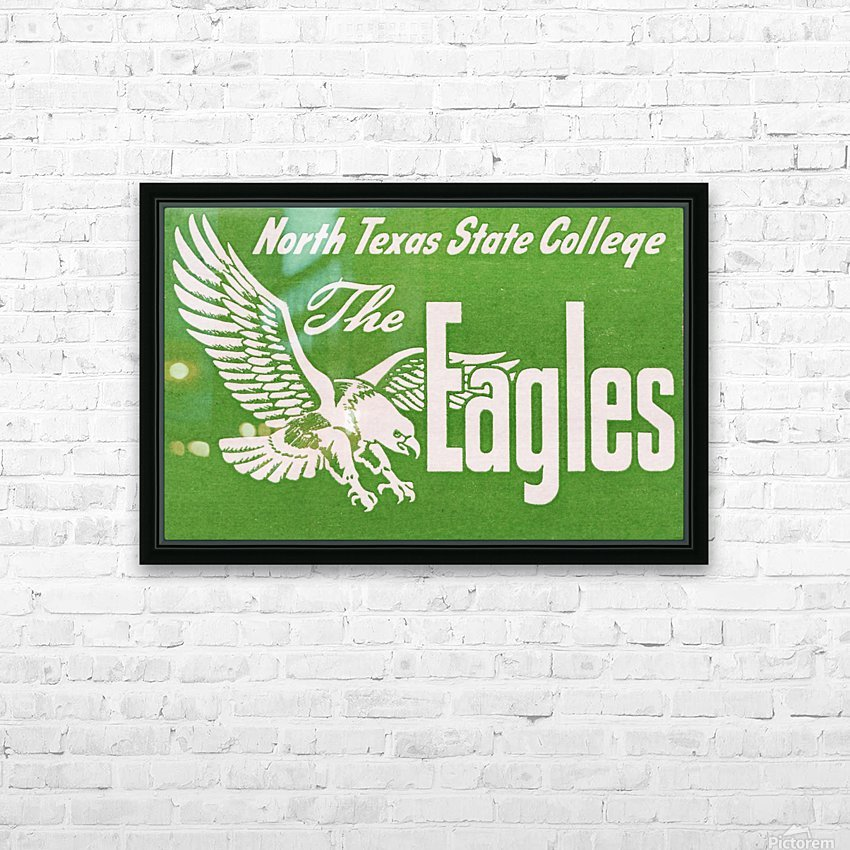 north texas state college unt eagles vintage poster college art collection HD Sublimation Metal print with Decorating Float Frame (BOX)