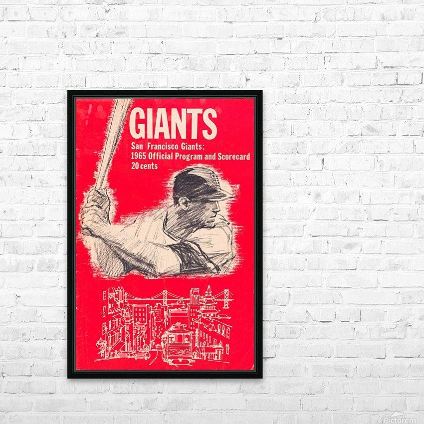 1965 san francisco giants program baseball scorecard poster HD Sublimation Metal print with Decorating Float Frame (BOX)