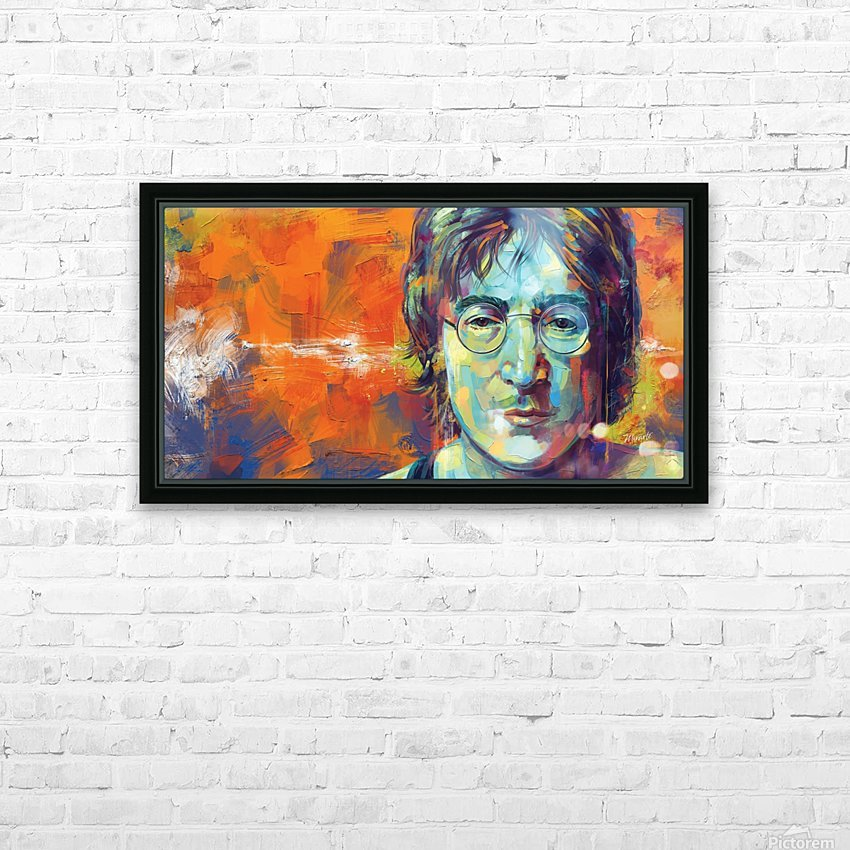 JOHN LENNON HD Sublimation Metal print with Decorating Float Frame (BOX)