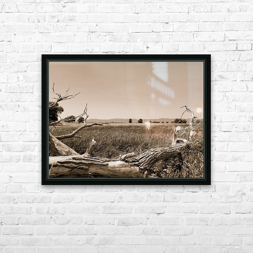 Isle aux Grues HD Sublimation Metal print with Decorating Float Frame (BOX)