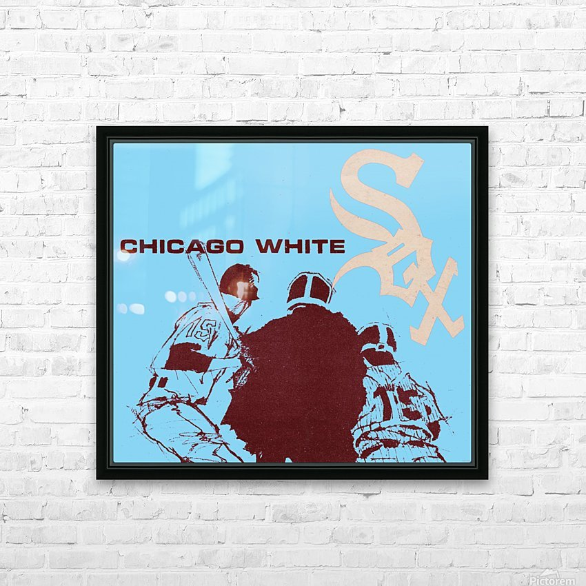 Chicago White Sox Baseball Poster Fine Art HD Sublimation Metal print with Decorating Float Frame (BOX)
