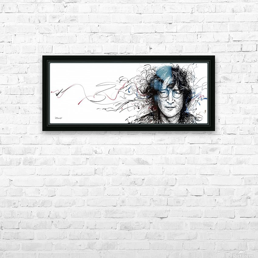 LENNON HD Sublimation Metal print with Decorating Float Frame (BOX)