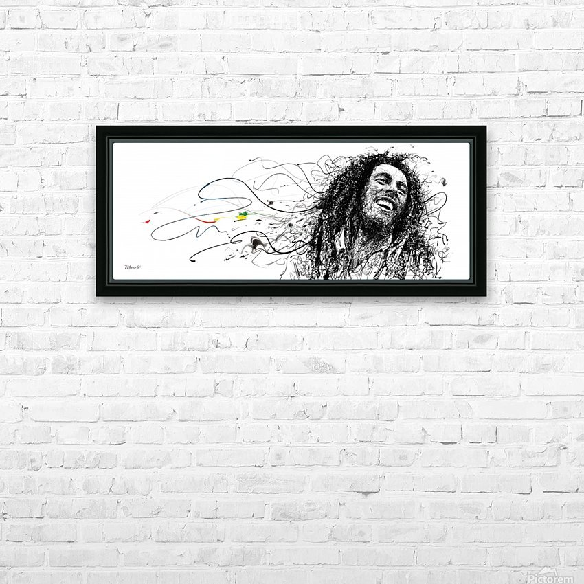 BOB MARLEY HD Sublimation Metal print with Decorating Float Frame (BOX)
