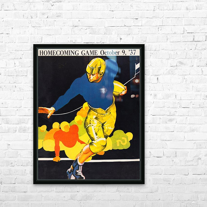 Vintage Homecoming HD Sublimation Metal print with Decorating Float Frame (BOX)