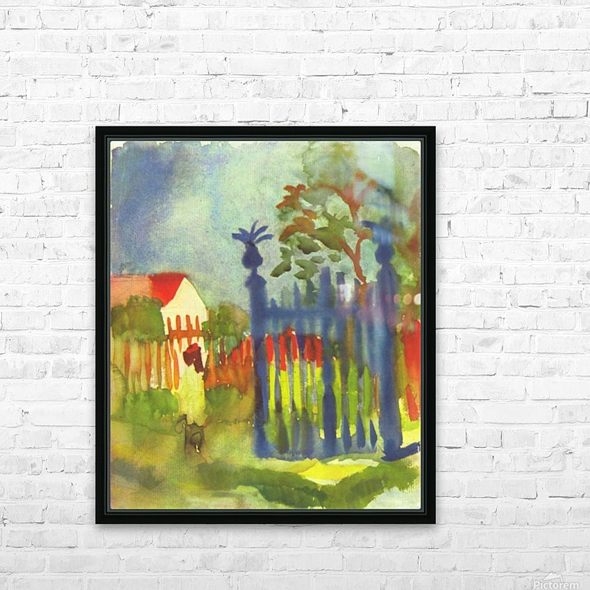 Garden gate by Macke HD Sublimation Metal print with Decorating Float Frame (BOX)