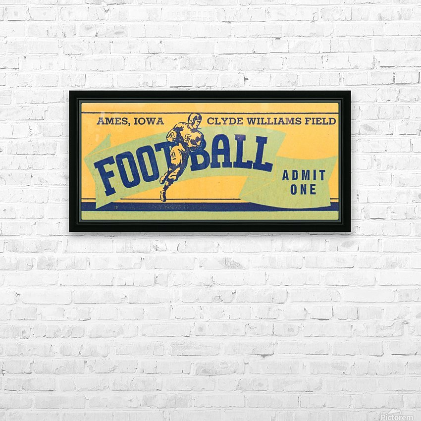 1939 Ames Football Admit One Ticket HD Sublimation Metal print with Decorating Float Frame (BOX)