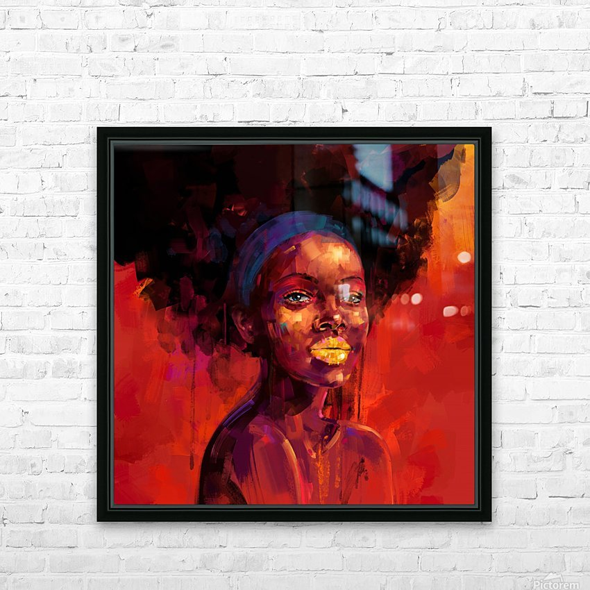 BELLEZA AFRO HD Sublimation Metal print with Decorating Float Frame (BOX)