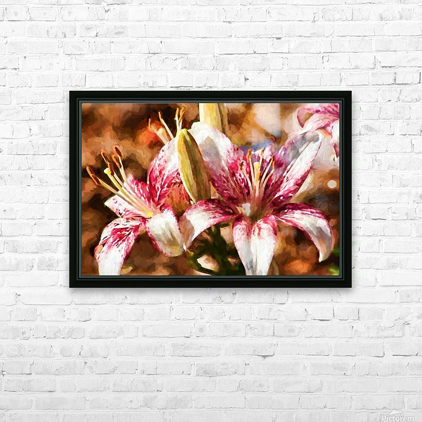 Stargazer Lily HD Sublimation Metal print with Decorating Float Frame (BOX)