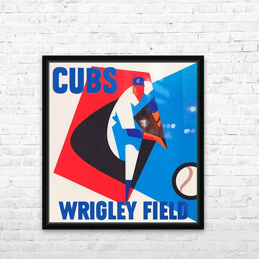 Cubs Wrigley Field Art HD Sublimation Metal print with Decorating Float Frame (BOX)