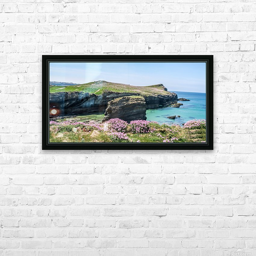 View of sea and rocks HD Sublimation Metal print with Decorating Float Frame (BOX)