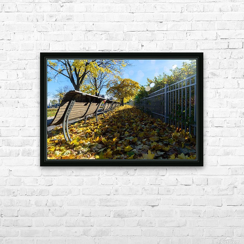 Autumn leaves in the park HD Sublimation Metal print with Decorating Float Frame (BOX)