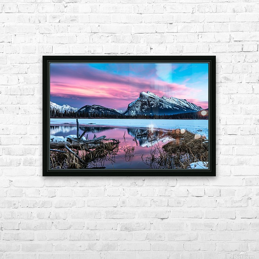 Rundle Mountain Sunset Banff National Park HD Sublimation Metal print with Decorating Float Frame (BOX)