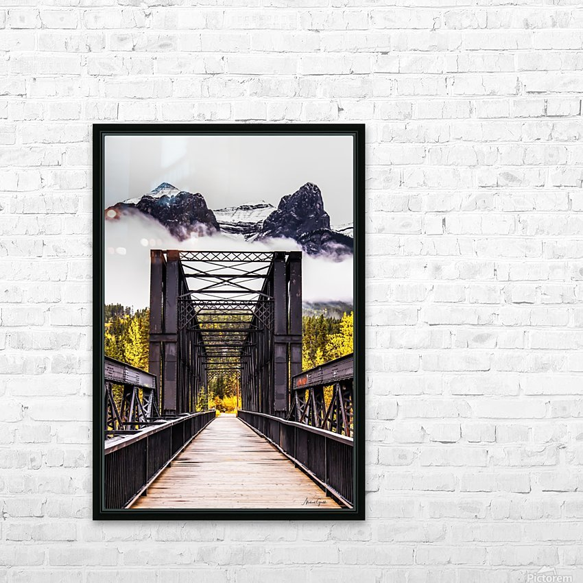 The Engine Bridge Canmore HD Sublimation Metal print with Decorating Float Frame (BOX)