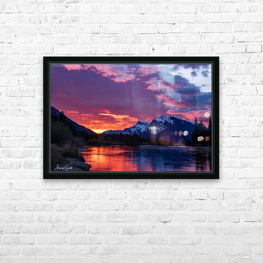 Bow River Sunrise East HD Sublimation Metal print with Decorating Float Frame (BOX)