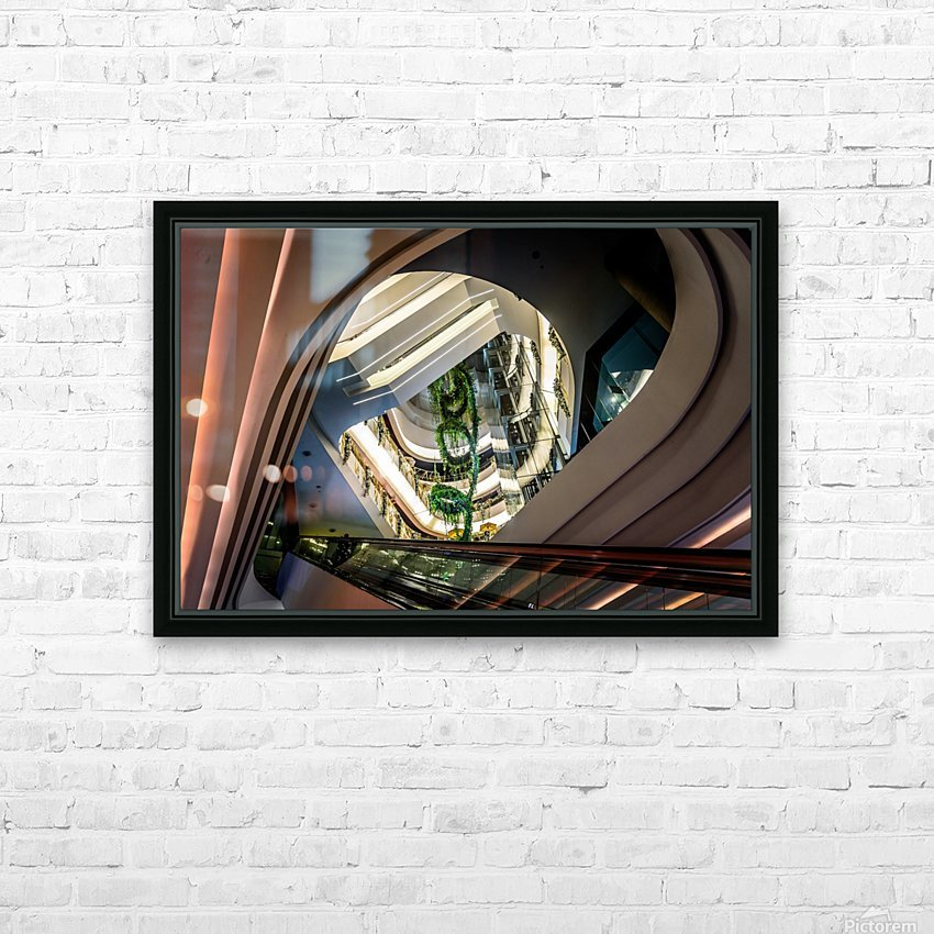 Modern architecture HD Sublimation Metal print with Decorating Float Frame (BOX)